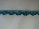 Narrow scalloped steel blue lace trim 1/2 W