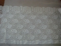 Pure White Scalloped Floral Stretch  Lace 11 3/8 w S-9-Box