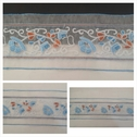 4 tone blue baby blue shinny orange white organza trim 3 1/3 inches wide