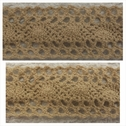 Beige crochet clunny scalloped embroidered trim 1 1/2 inch wide.