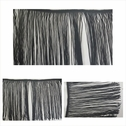 Black long single edge fringe trim 9 inch wide