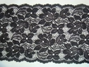 Black stretch floral wide lace trim 6 W S8-2