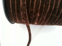 Brown velvet ribbon trim 1/4