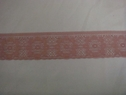 Dusty Rose Delicate Rose Floral Scalloped Lace Trim. 2 w. L10-2