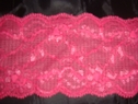 Fucshia stretch double scalloped  lace trim 2 7/8 S-2-6