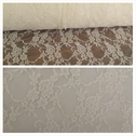 Ivory 4 way stretch lace floral design fabric 60 inch wide