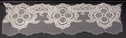 1 yard Ivory Double Scalloped Embroidered Floral Lace 2 1/2 in W