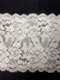 Floral Stretch Lace Wide Ivory White 5 1/4 in s6-1a