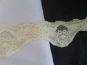 Ivory stretch lace scalloped trim 2 1/4 inch S 3-3
