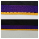 LAKER yellow and purple polyester ribbon trim 11/16 inches wide
