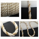 Natural and gold round cotton twisted cord string 5/16 inches wide.