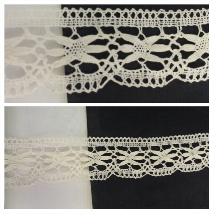 Natural Scalloped Poly Clunny Crochet Lace Trim 1 916 Inches Wide