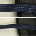 Navy blue flat cord trim 1/4 inches wide.