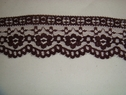 Beautiful burgundy scalloped lace trim.1 3/4 W L6-2