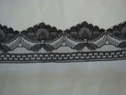Black beautiful scalloped lace trim. 1 1/2 W L5-2