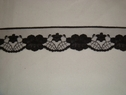 Black floral scalloped lace trim. 1 1/2 W L5-5