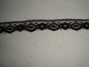 Black narrow lace  trim. 1/2 W L3-4