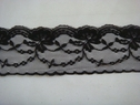 Black scalloped floral lace trim. 2 1/4 W L2-8