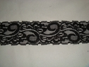 Black scalloped stretch lace trim. 1 3/4 W S2-9