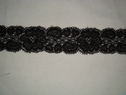 Black scalloped stretch lace trim, 1 5/8 W S5-7