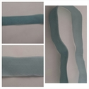 Bleuet blue nylon velvet ribbon1 inch wide.