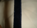 Midnight blue velvet ribbon trim 3/8 w
