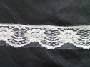 Off white beaded lace trim with sequins 1 1/4 inches L-10