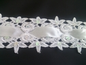 Pure white beaded instert sequins venice trim 2 1/2 inches