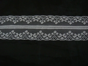 Pure White Double scalloped Lace trim 1 1/2 w L 1-10