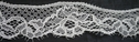 Scalloped embroidered off white lace trim 1 1/4 inch, L8-6