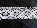 White crochet clunny scalloped embroidered lace trim 2 inch