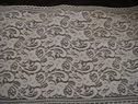 White double scalloped floral stretch lace trim. 12 W S9-2