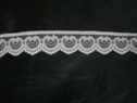 White Double Scalloped Heart Design   Lace trim 1 w L 1-1