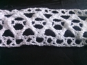 White embroidred scalloped crochet clunny trim 1 1/4 inch