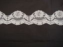 White floral double scalloped lace trim. 1 7/8 W L6-3