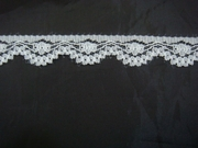 white Narrow edge Lace trim. 5/8 L1-10
