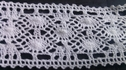 white scalloped embroidered crochet clunny trim 1 1/2 inches