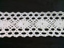 White scalloped embroidered crochet clunny trim 1 3/4 inch