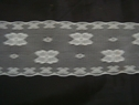 White scalloped lace trim. 2 W L6-2