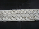 Off White Soft Stretch Lace with Squares 1 inch S-1-11