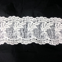 Off White Venice Floral Double Scalloped Trim 2 1/4 inch Wide