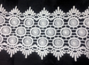 Off White Venice Lace Double Scalloped 4 3/4 inch Wide