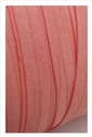 Light coral fold over elastic for headband trim 5/8 inches wide