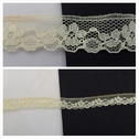Pale yellow scalloped with floral design lace trim 11/16 inches wide. L6-4