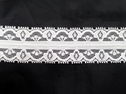 Poly Lace Double Scalloped Floral Trim 1 3/8 inch wide L2-8