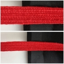 Red flat cord 1/4 inches wide.