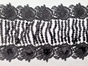 Sequin fringe Black and Silver Embroidered 6 1/2 inch wide