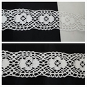 White cotton crochet clunny lace floral trim 1 3/4 inches wide.