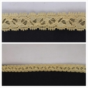 Yellow Narrow Double Scalloped Stretch Lace Trim 1/2 inch wide. S2-10