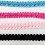 French Braided Gimp Pink Turquoise Black Hot Pink 1/2 inch Wide